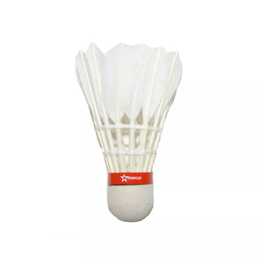 Peteca Badminton Starflex com 12 Unidades