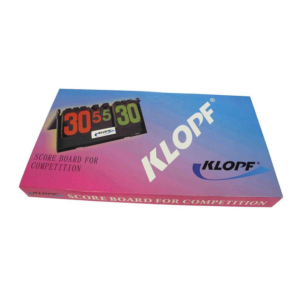 Placar de Mesa Manual - Klopf
