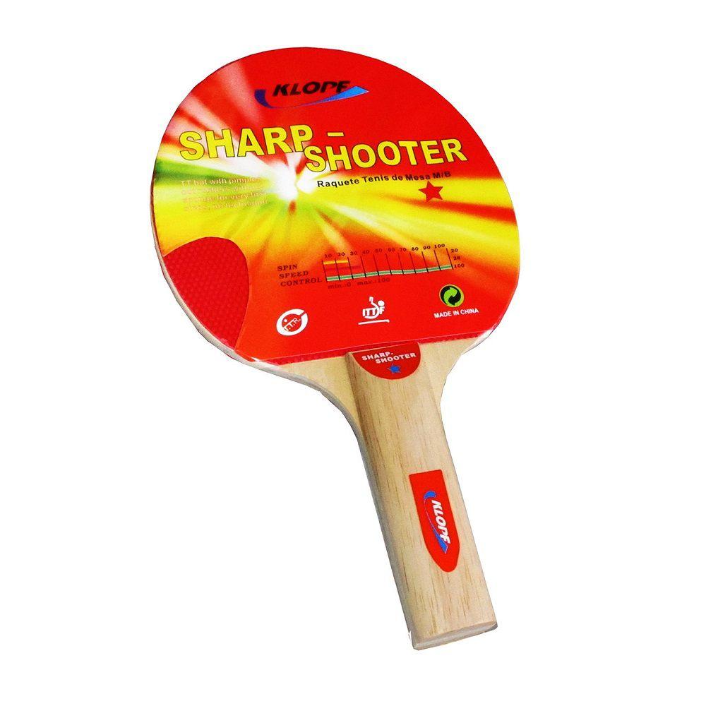 Raquete Tênis de Mesa Klopf Sharp Shooter