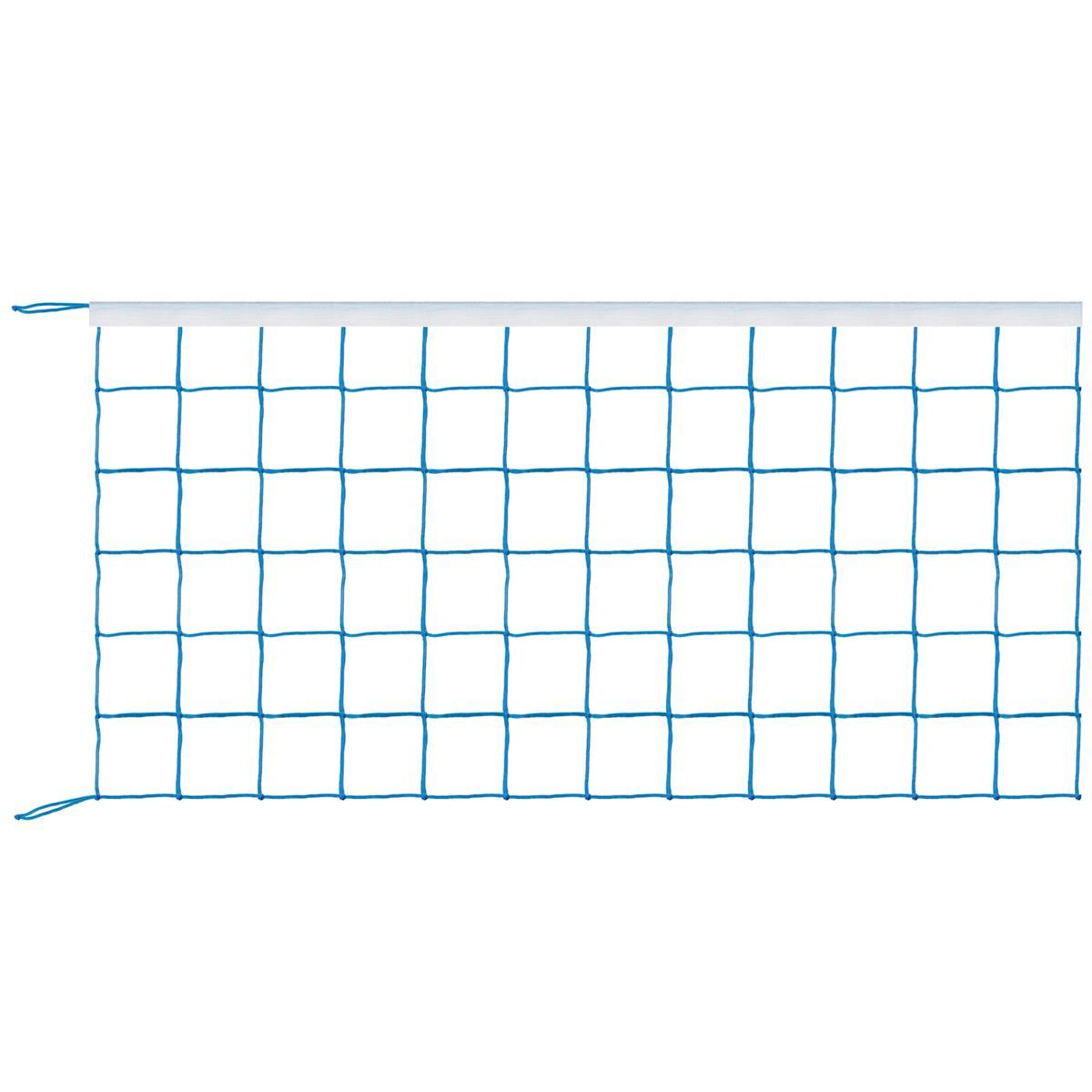 Rede de Vôlei 1 Lona Sintética Fio 1,5 mm em Nylon na cor Azul Royal - Kit Sport