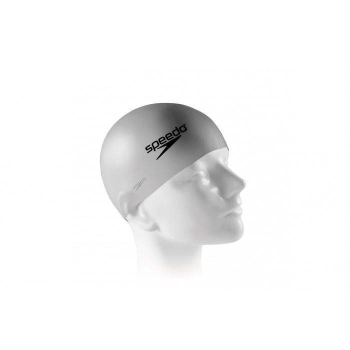 Touca de Natação Lisa  Junior Swim Cap em Silicone Prata - Speedo