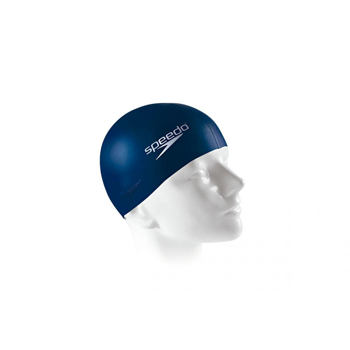 Touca Lisa de Natação Flat Swim Cap Adulto em Silicone Cor Azul Marinho - Speedo
