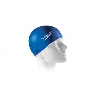Touca Lisa de Natação Flat  Swim  Cap Adulto em Silicone  Cor Azul Royal - Speedo