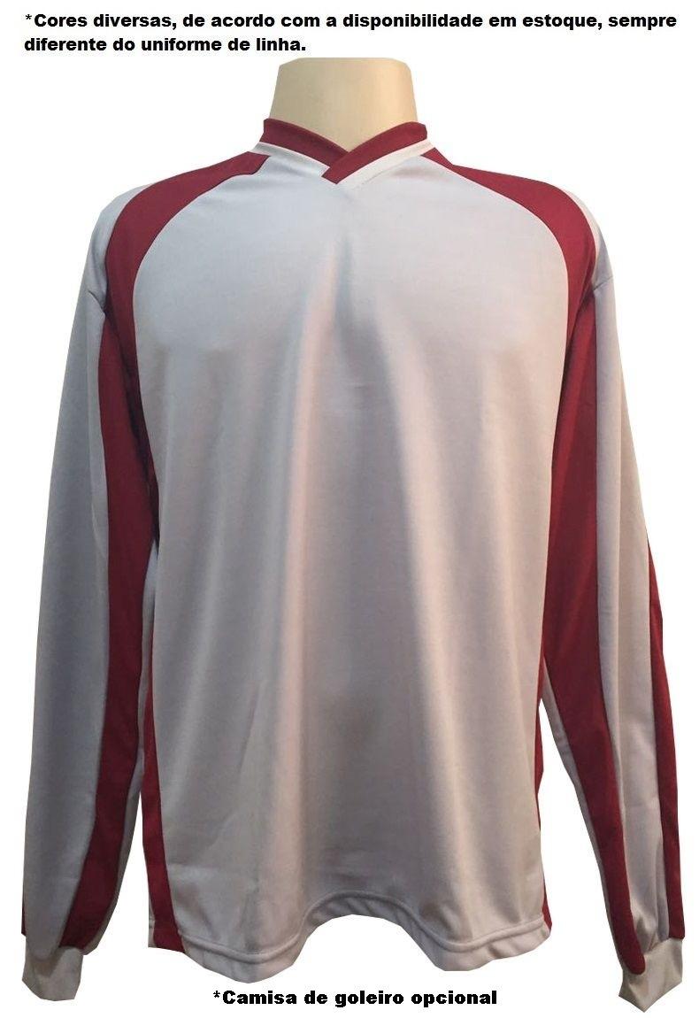 Uniforme Esportivo com 12 Camisas modelo Milan Verde/Branco + 12 Calções modelo Madrid Verde + Brindes