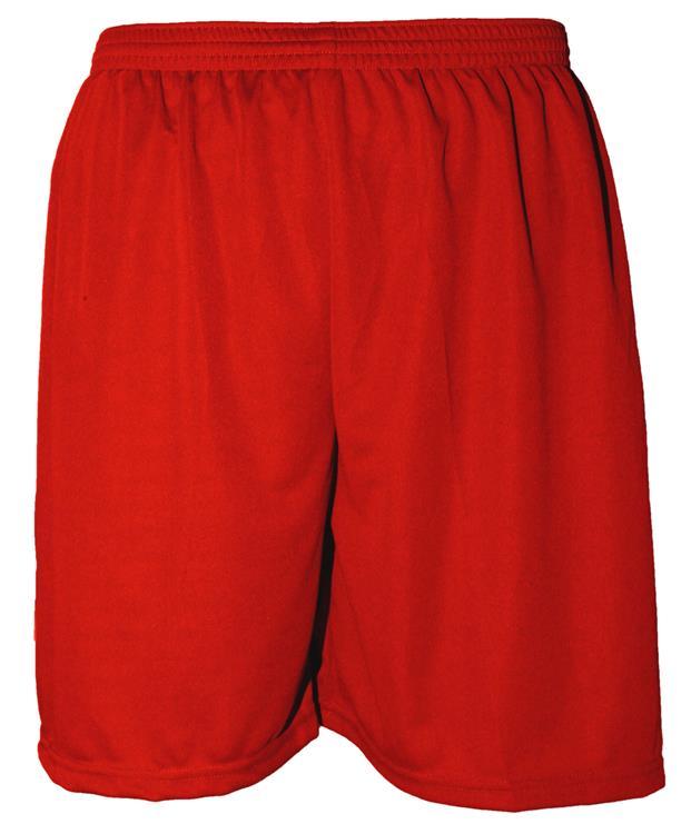 Uniforme Esportivo com 14 camisas modelo Suécia Preto/Vermelho + 14 calções modelo Madrid Vermelho + 14 pares de meiões Vermelho