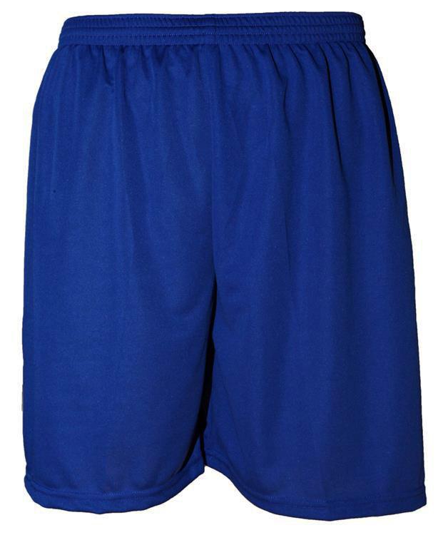 Uniforme Esportivo com 18 camisas modelo Milan Royal/Branco + 18 calções modelo Madrid Royal + 18 pares de meiões Royal