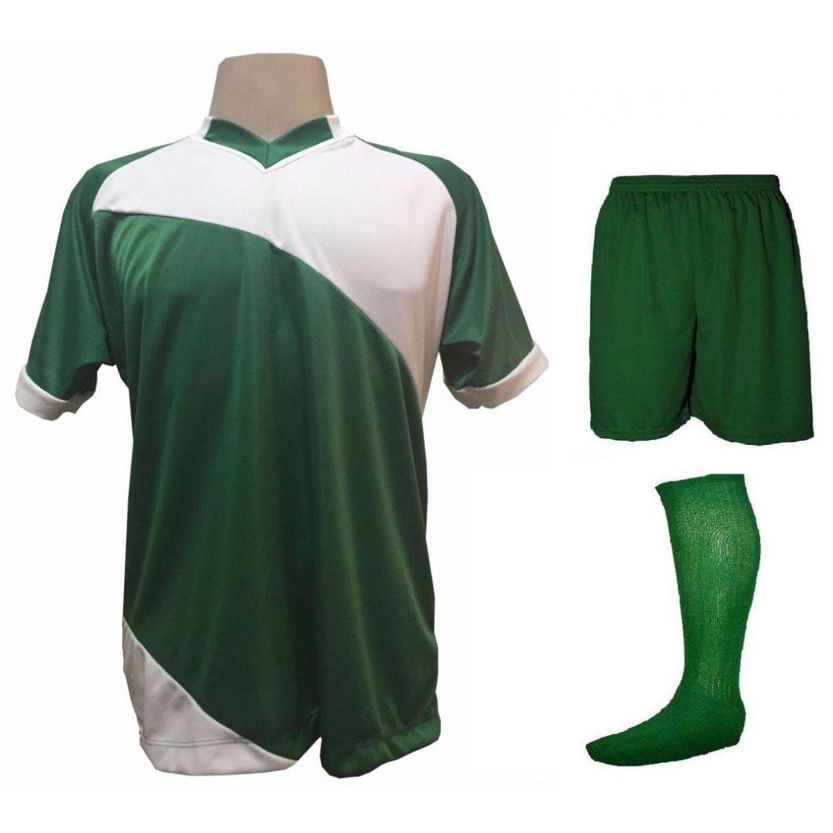 Uniforme Esportivo com 20 camisas modelo Bélgica Verde Branco + 20 calções  modelo Madrid Verde ... 303b47c1cfeca