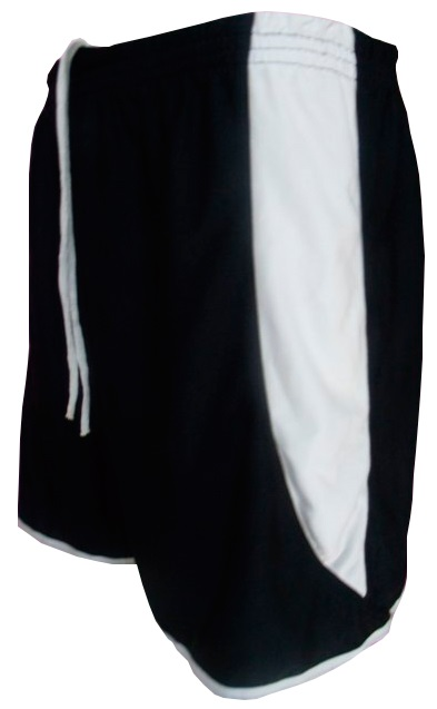 Uniforme Esportivo com 12 Camisas modelo Milan Celeste/Branco + 12 Calções modelo Copa Preto/Branco + 12 Pares de meiões Branco
