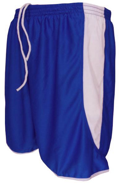Uniforme Esportivo com 12 Camisas modelo Milan Royal/Branco + 12 Calções modelo Copa Royal/Branco + 12 Pares de meiões Branco