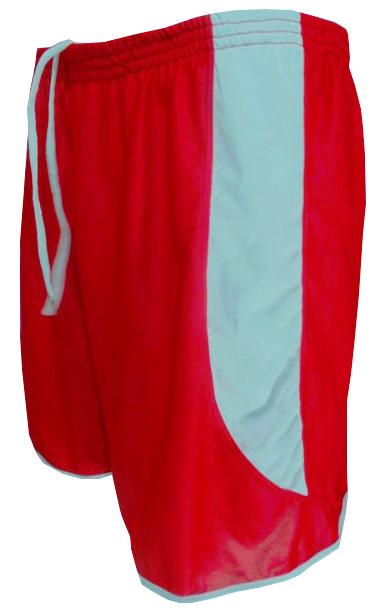 Uniforme Esportivo com 12 Camisas modelo Milan Vermelho/Branco + 12 Calções modelo Copa Vermelho/Branco + 12 Pares de meiões Branco