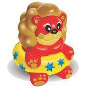 Brinquedo Mordedor Lider Leão Boia - Amarelo