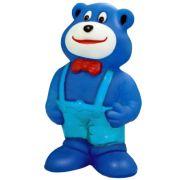 Brinquedo Mordedor Lider Ursinho de Gravata - Azul