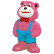 Brinquedo Mordedor Lider Ursinho de Gravata - Rosa