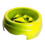 Comedouro Furacão Pet de Plástico Coma Melhor - Amarelo