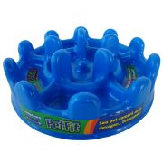Comedouro Lento Pet Games Pet Fit - Azul