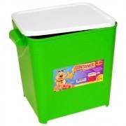 Porta Ração Furacão Pet Canister com Comedouro 4,5 Kg - Verde