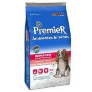 Ração Premier Ambientes Internos Dermacare de Salmão para Cães Adultos de Raças Pequenas