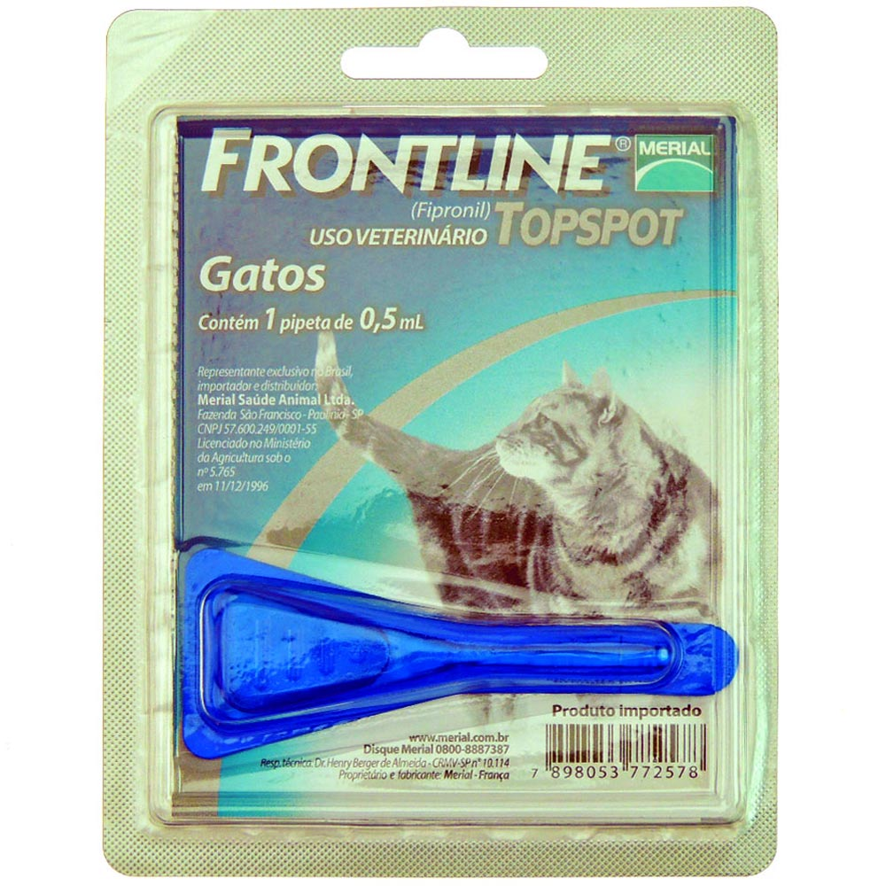 Antipulgas e Carrapatos Frontline Top Spot de 0,5 mL para Gatos