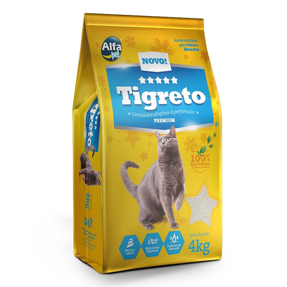 Areia Fina Alfapet Tigreto - 4 Kg