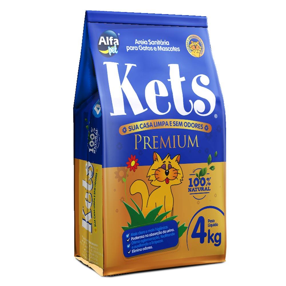Areia Granulada Fina Alfapet Kets Premium - 4 Kg