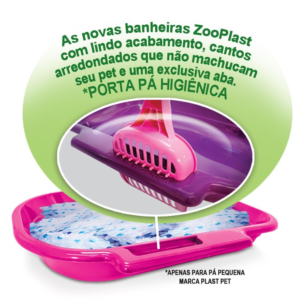 Bandeja Sanitária Plastpet Zooplast Gato - Lilás