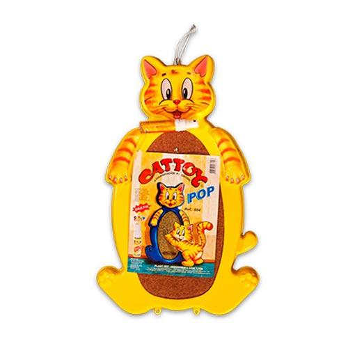 Brinquedo Arranhador Plastpet Cattoy Pop - Amarelo