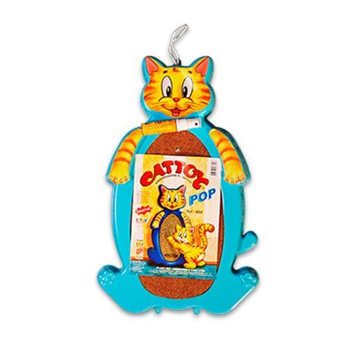 Brinquedo Arranhador Plastpet Cattoy Pop - Azul