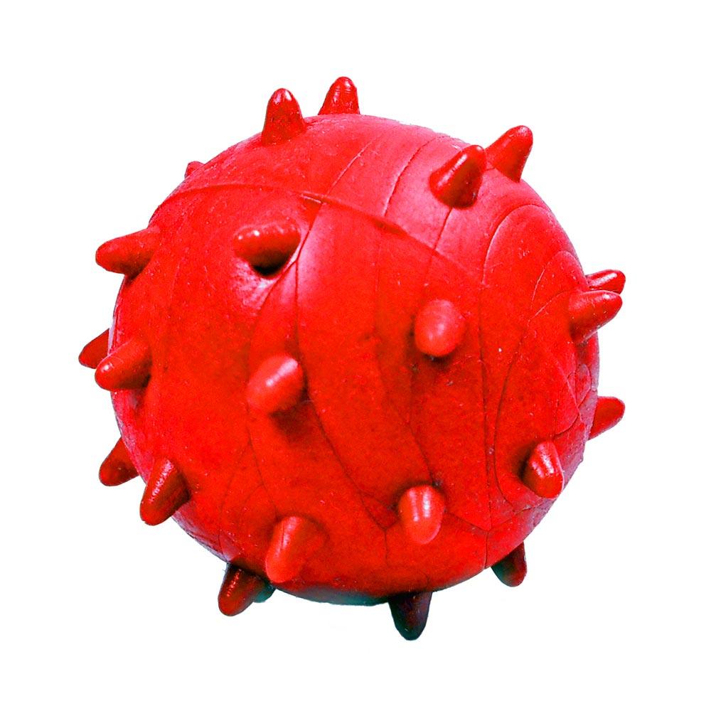 Brinquedo Furacão Pet Bola Maciça Mamoninha de 45 mm - Vermelho