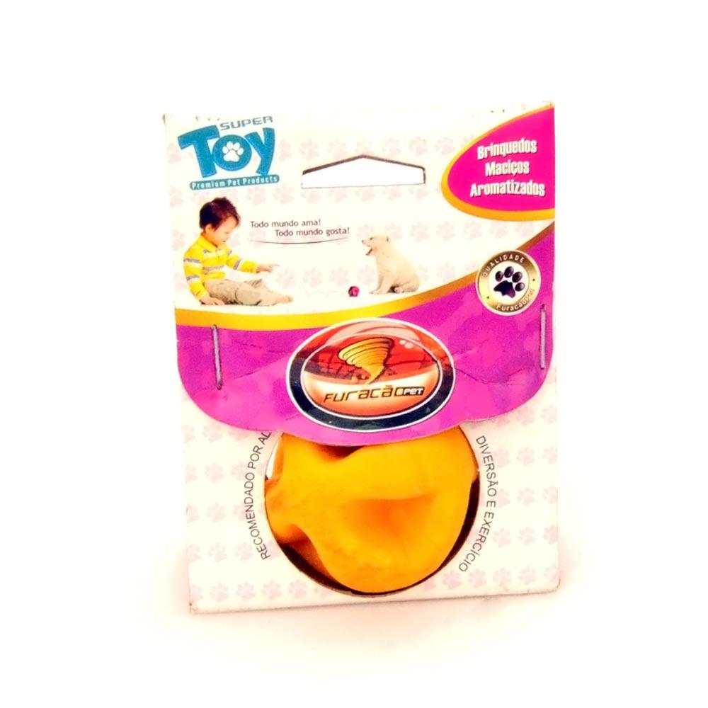 Brinquedo Furacão Pet Bola Maciça Super Ball - Amarelo