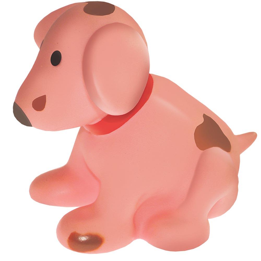 Brinquedo Mordedor Lider Cachorro Sentado - Rosa