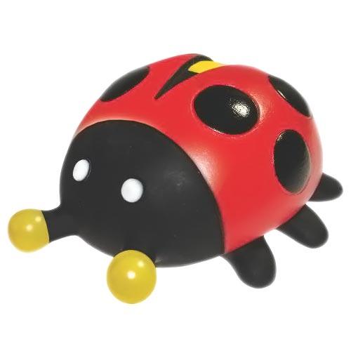 Brinquedo Mordedor Lider Joaninha - Vermelho e Preto