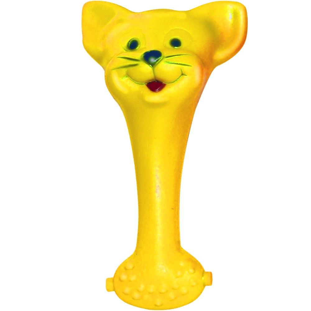 Brinquedo Mordedor Lider Mordedores Gato - Amarelo