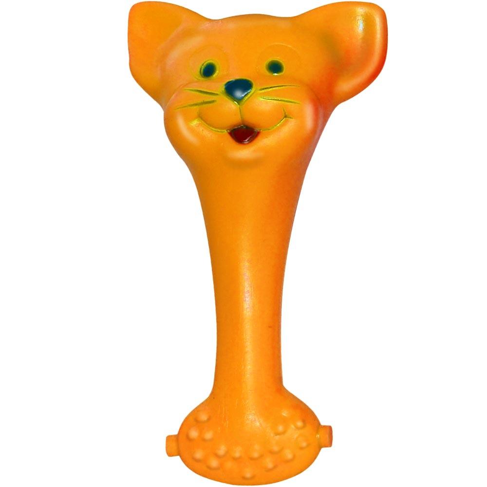 Brinquedo Mordedor Lider Mordedores Gato - Laranja