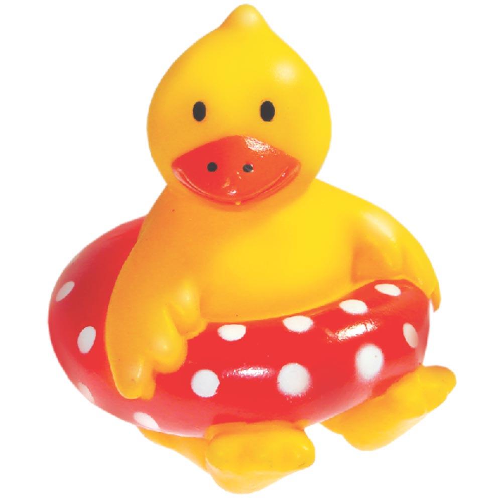 Brinquedo Mordedor Lider Pato Boia - Amarelo