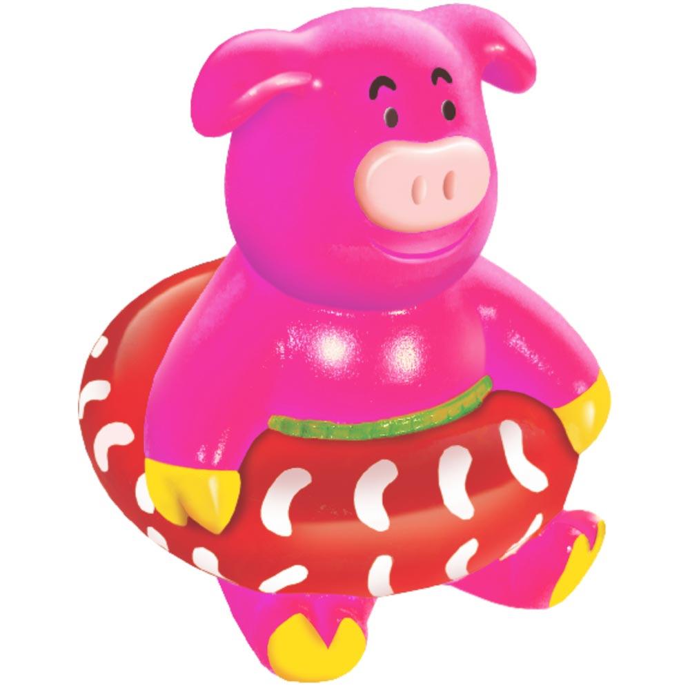 Brinquedo Mordedor Lider Porco Boia - Rosa