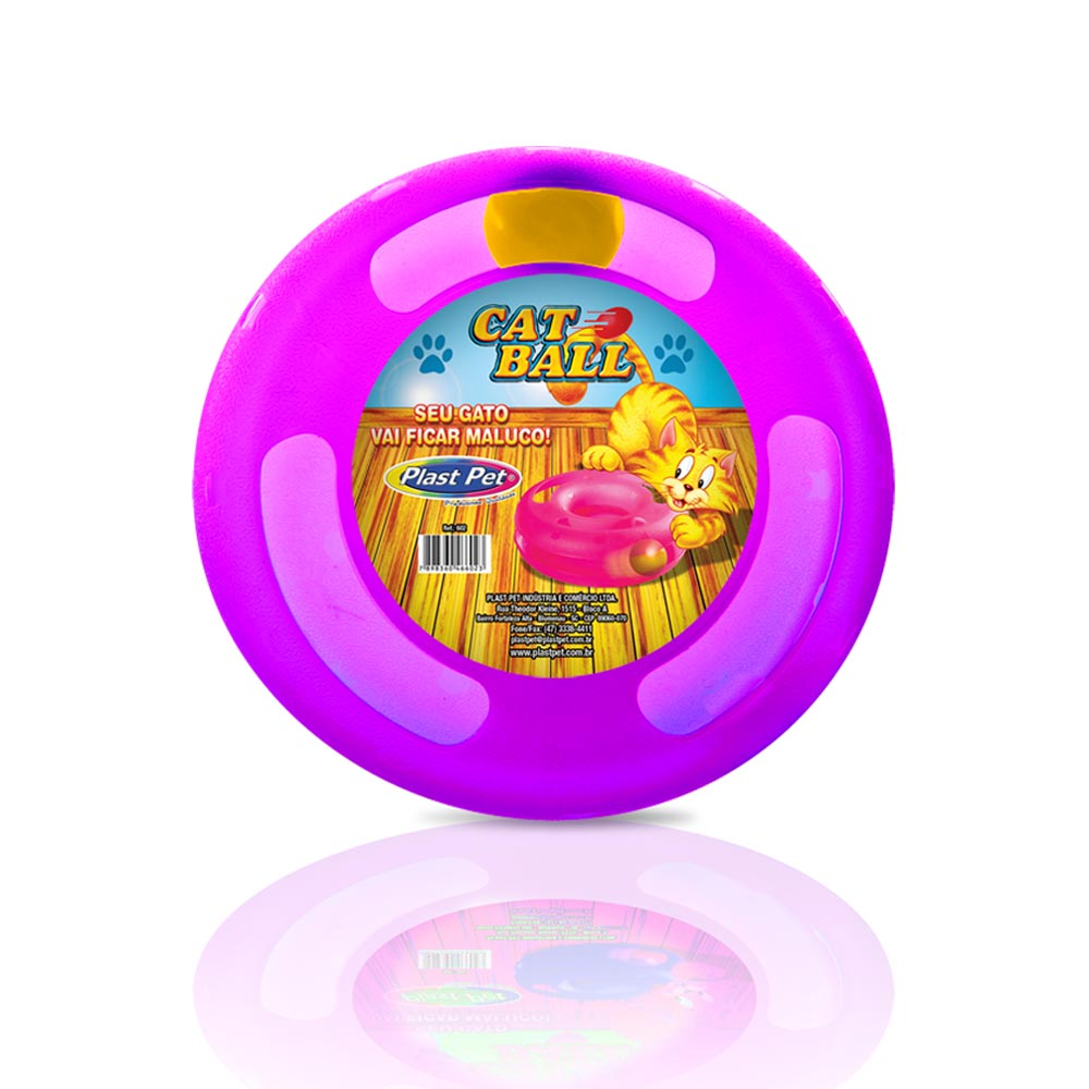 Brinquedo Plastpet Cat Ball - Roxo