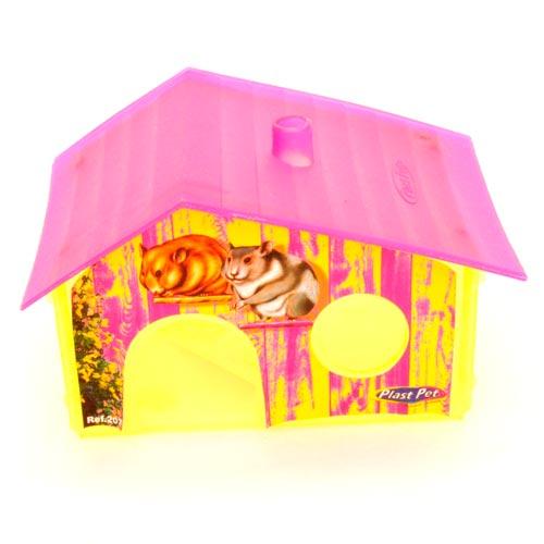 Casinha Plastpet Hamster com Tag