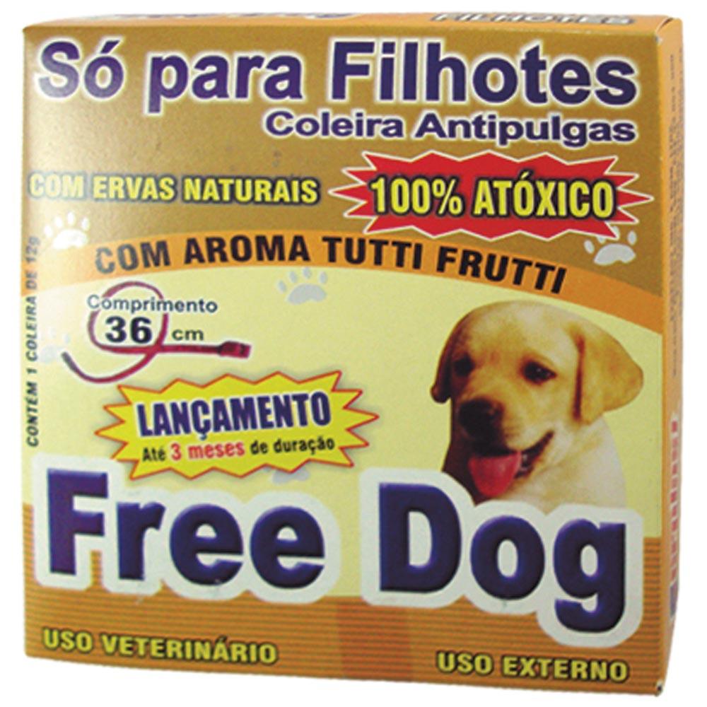 Coleira Free Dog Antipulgas para Cães Filhotes