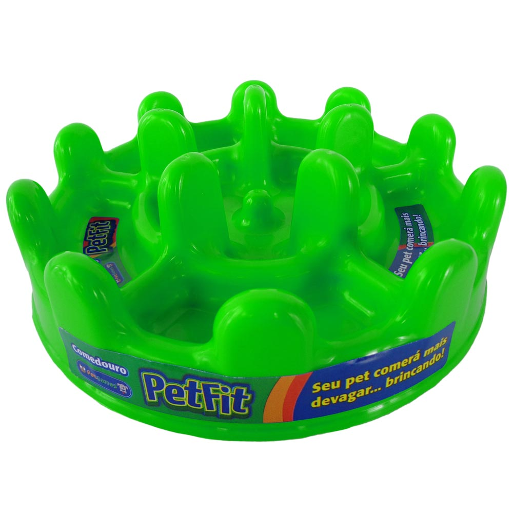 Comedouro Lento Pet Games Pet Fit - Verde