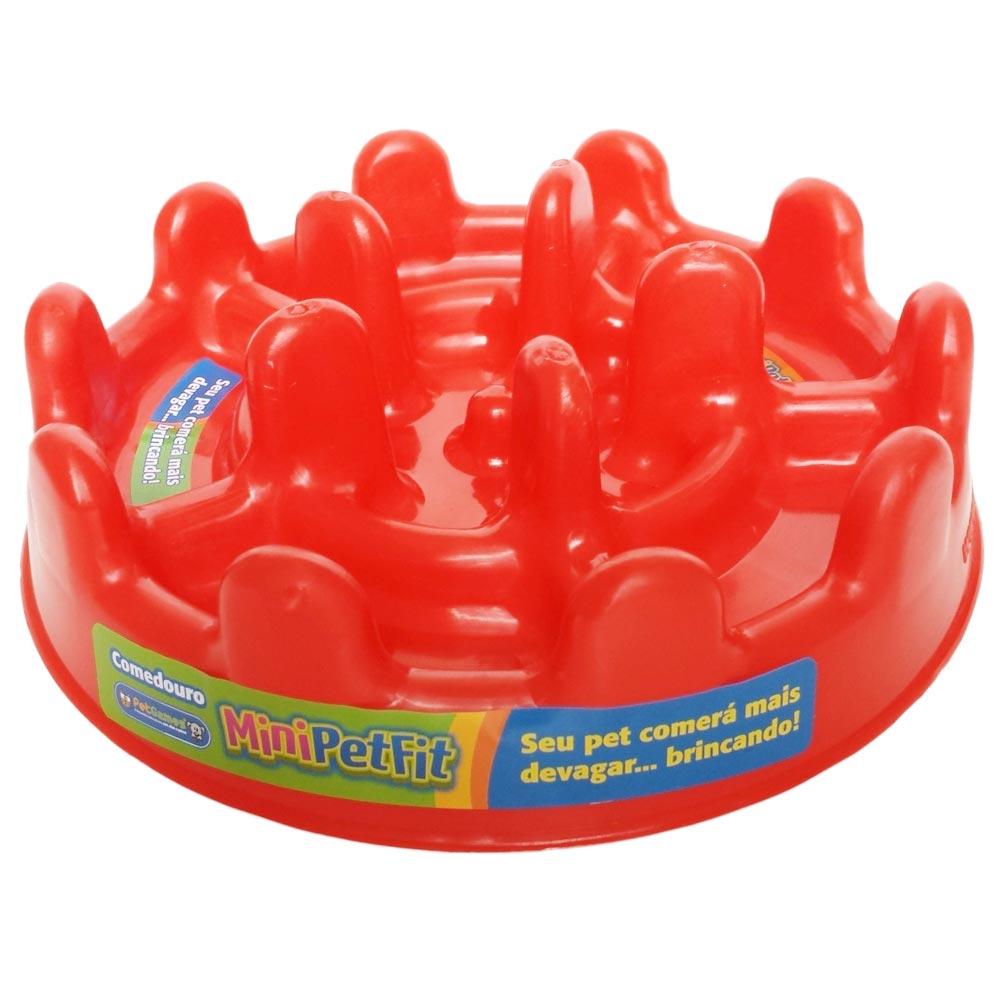 Comedouro Lento Pet Games Pet Fit - Vermelho