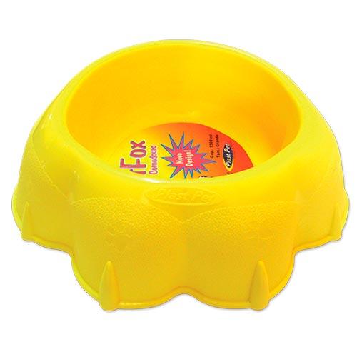 Comedouro Plastpet Pet Fox - Amarelo