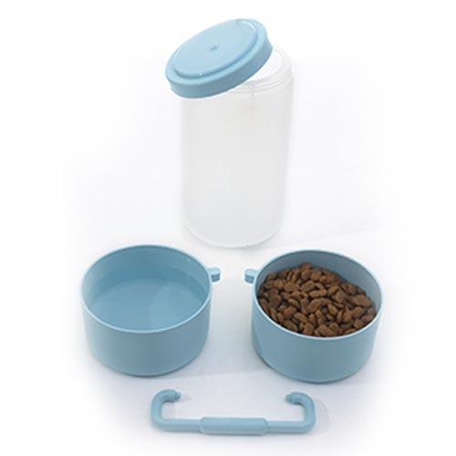 Container Alvorada Pet para Alimentação de Viagem My Bag - Azul