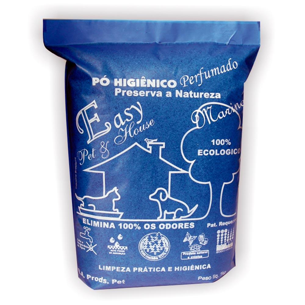 Eliminador de Odores Easy Pet & House em Pó Higiênico de 1 Kg - Marine