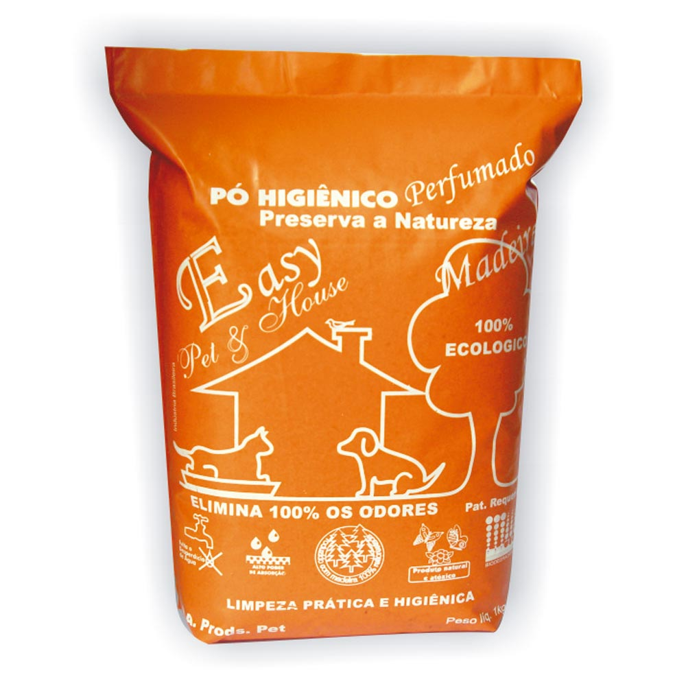 Eliminador de Odores Easy Pet & House em Pó Higiênico - Madeirado