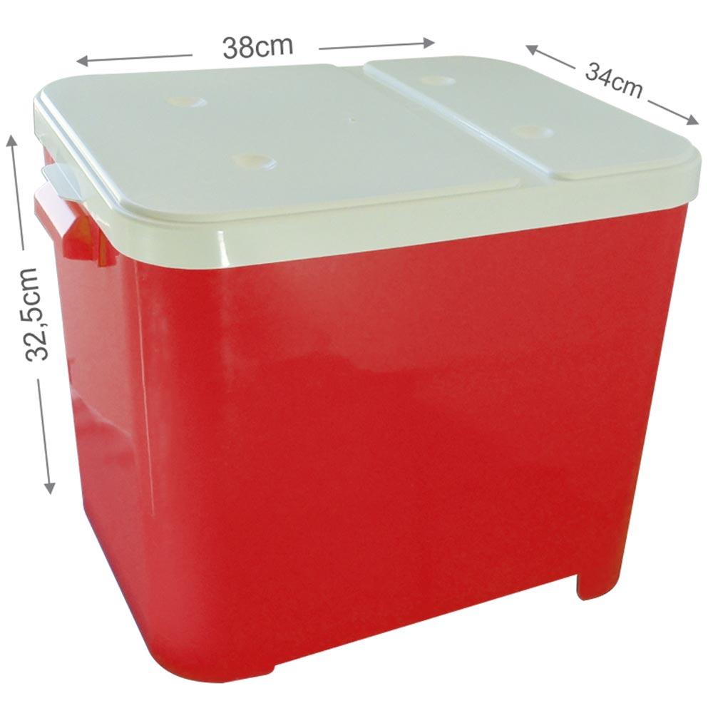 Porta Ração Furacão Pet Canister com Comedouro 4,5 Kg - Vermelho