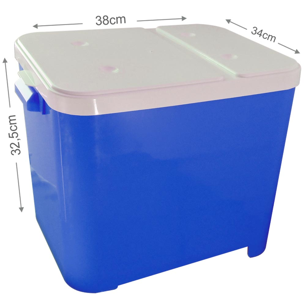 Porta Ração Furacão Pet Container de 15 Kg - Azul