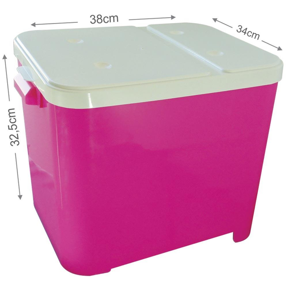Porta Ração Furacão Pet Container de 15 Kg - Rosa