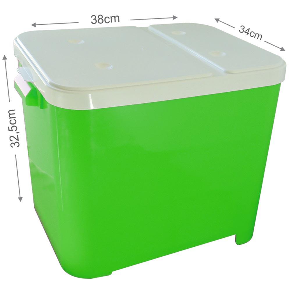 Porta Ração Furacão Pet Container de 15 Kg - Verde