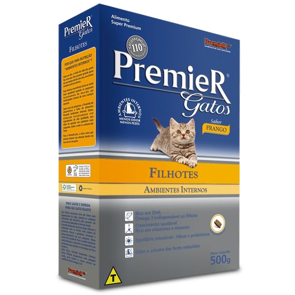 Ração Premier Ambientes Internos de Frango para Gatos Filhotes