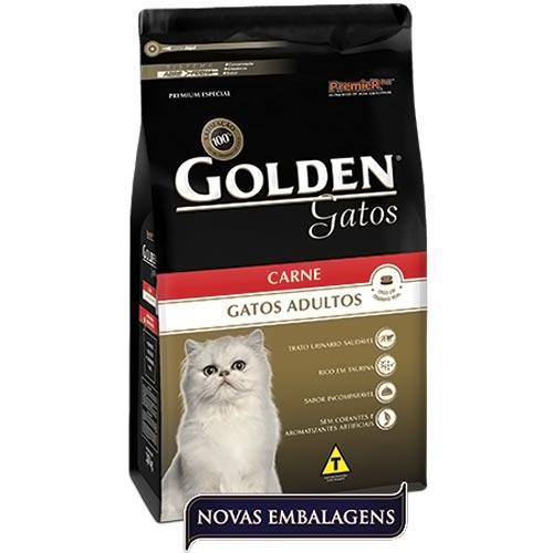 Ração Premier Pet Golden de Carne para Gatos Adultos